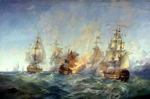 Alexander Blinkov. The battle of the island Tendra 28-29 August 1790