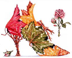 Деннис Кайт. Кленовый лист и роза