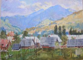 Yosif Josifovich Garani. A village in the Carpathians