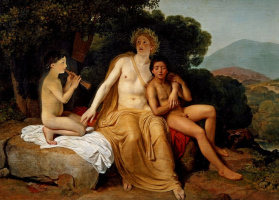 Alexander Andreevich Ivanov. Apollo, Hyacinthus and Cypress, playing music and singing