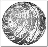 Мауриц Корнелис Эшер. Сфера поверхности с рыбами