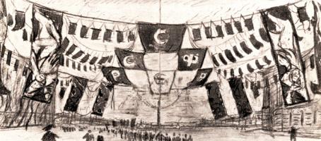 Праздничное оформление Петрограда