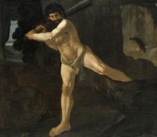 Francisco de Zurbaran. The struggle of Hercules with the boar elementsin