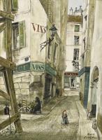 Цугухару Фудзита ( Леонар Фужита ). Парижская улица