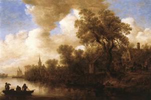 Ян ван Гойен. Речная сцена