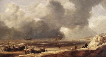Ян Порселлис. Кораблекрушение у берега