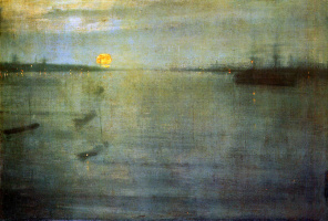 James Abbot McNeill Whistler. Nocturne: Blue and gold - Southampton water
