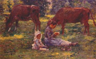 Теодор Робинсон. Наблюдая за коровами