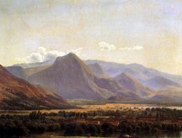 Joseph Bideau. View of the city Avezzano