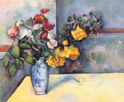 Paul Cezanne. Still life with flowers in a vase
