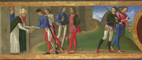 Доменико Гирландайо. Легенда о святых Клименте и Юстусе Вольтерре