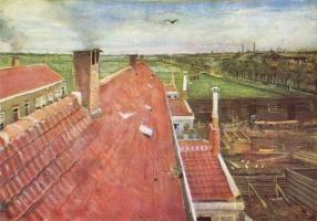 Винсент Ван Гог. Крыши, вид из мастерской Ван Гога