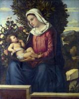 Северной Итальянский. Дева с младенцем, розы и лавры