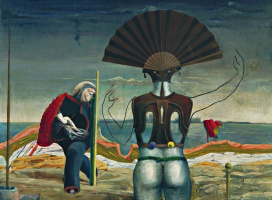 Max Ernst. Woman, man and flower