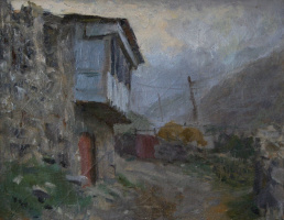 Evening in the village of Lats