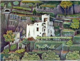 Maurits Cornelis Escher. Farmhouse, Ravello (in color)