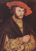 Lucas Cranes the Elder. Portrait of a man in a beret