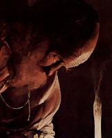 Жорж де Латур. Св. Иосиф - плотник, деталь: Голова Иосифа