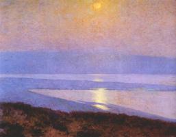Морис Браун. Восход луны над заливом Сан - Диего