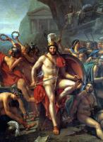 Jacques-Louis David. Leonid at Thermopylae. Fragment VI