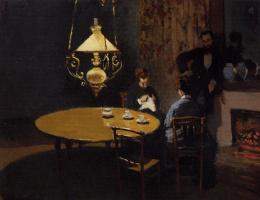Claude Monet. Interior, after dinner
