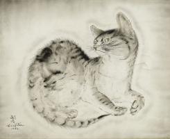 Цугухару Фудзита (Леонар Фужита). Кот