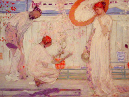 James Abbot McNeill Whistler. White Symphony: Three girls