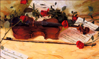 Трэвис Эрион. Ноты, роза и скрипка