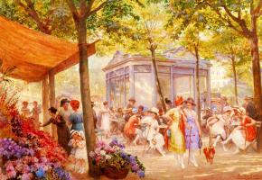 Эжен Огюст Франсуа Дюлли. Цветочный рынок