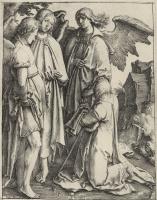 Лукас ван Лейден (Лука Лейденский). Авраам и три ангела