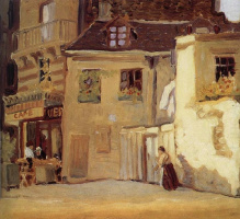 Грант Вуд. Кафе в Париже
