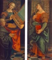 Гауденцио Феппапи. Санкт-Сесиль с дарителем и Санкт-Маргерит