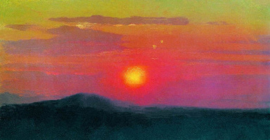 Красный закат. Эскиз одноименной картины