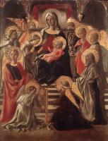 Фра Филиппо Липпи. Мадонна с младенцем на троне со святыми