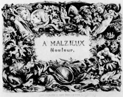 Шарль-Франсуа Добиньи. Визитная карточка фасонного литейщика Огюста Мальзьё