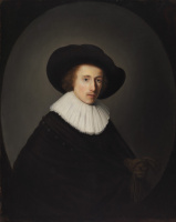 Геррит (Герард) Доу. Портрет мужчины в шляпе
