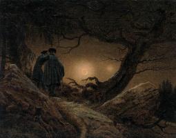 Каспар Давид Фридрих. Два мужчины созерцают Луну