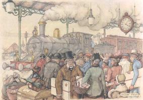 Mode of transport. Locomotive, train