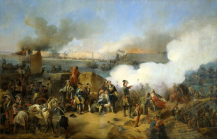 Александр Евстафиевич Коцебу. Штурм крепости Нотебург 11 октября 1702 года