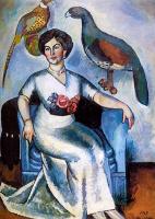 Ilya Ivanovich Mashkov. Portrait of a lady with pheasants