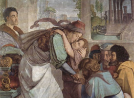 Петер фон Корнелиус. Фрески Каза Бартольди в Риме. Иосиф открывается своим братьям, деталь