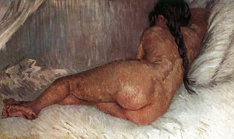 Винсент Ван Гог. Лежащая обнаженная, вид сзади