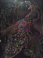 Natalie Shaposhnikova. Thinking peacock