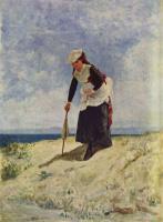Джузеппе де Ниттис. Девушка на морском берегу