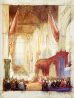 Йоханнес Босбум. Вознесение короля Виллема III в Амстердаме
