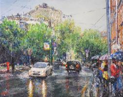 Spring rain in B.Ovchinnikovsky lane