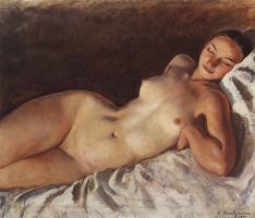 Зинаида Евгеньевна Серебрякова. Спящая натурщица