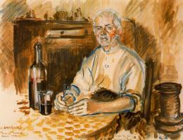 Андре Хамбоург. Седой мужчина