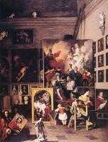 Пьер Сублеурас. Мастерская художника в Риме