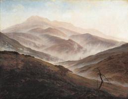 Caspar David Friedrich. Landscape in the Silesian Mountains